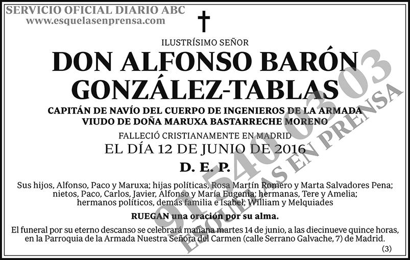 Alfonso Barón González-Tablas